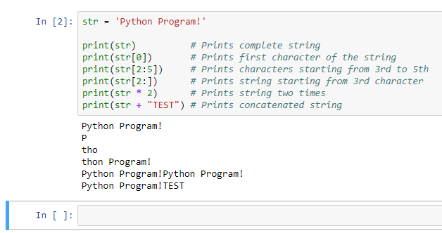 string concatenation in python
